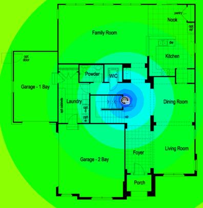 карта WiFi сигнала