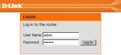 вводим логин и пароль от веб-интерфейса