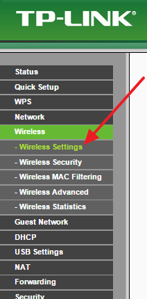 переходим в раздел с настройками Wi-Fi