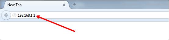 вводим IP адрес роутера в браузер