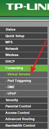 Виртуальные серверы в английском интерфейсе