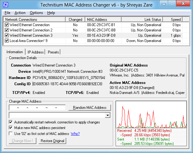 программа для смены МАК адреса