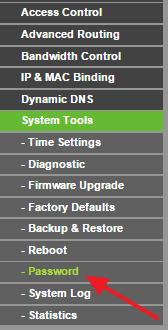 переходим в раздел System Tools – Password