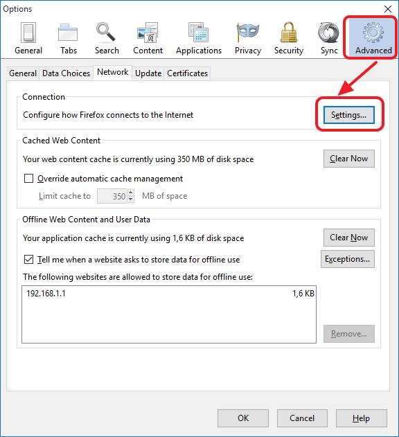 настройте браузер на использование прокси-серверов