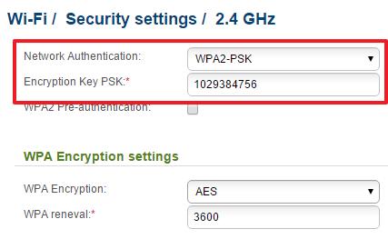 включите WPA2-PSK и поменяйте пароль